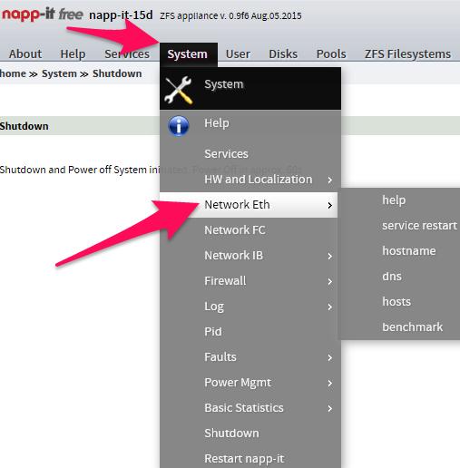 napp-it network settings